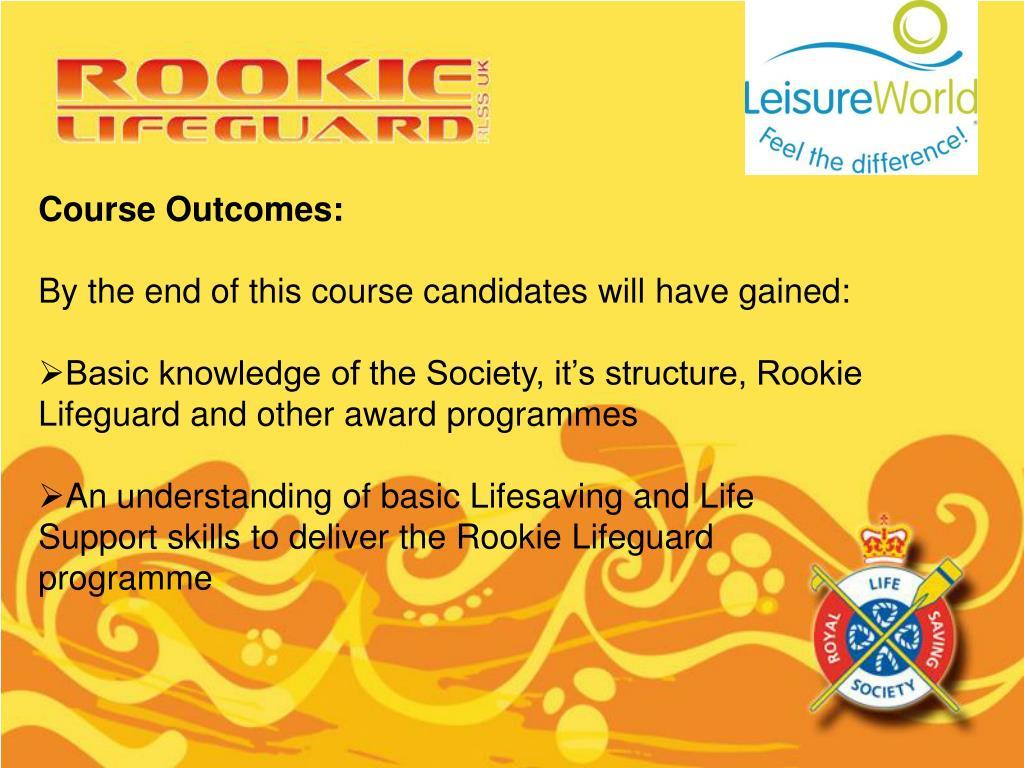 Course Outcomes: