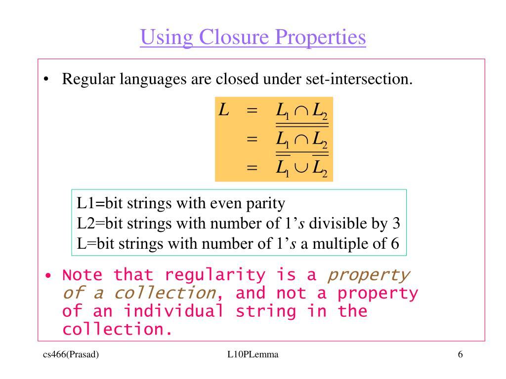 Using Closure Properties