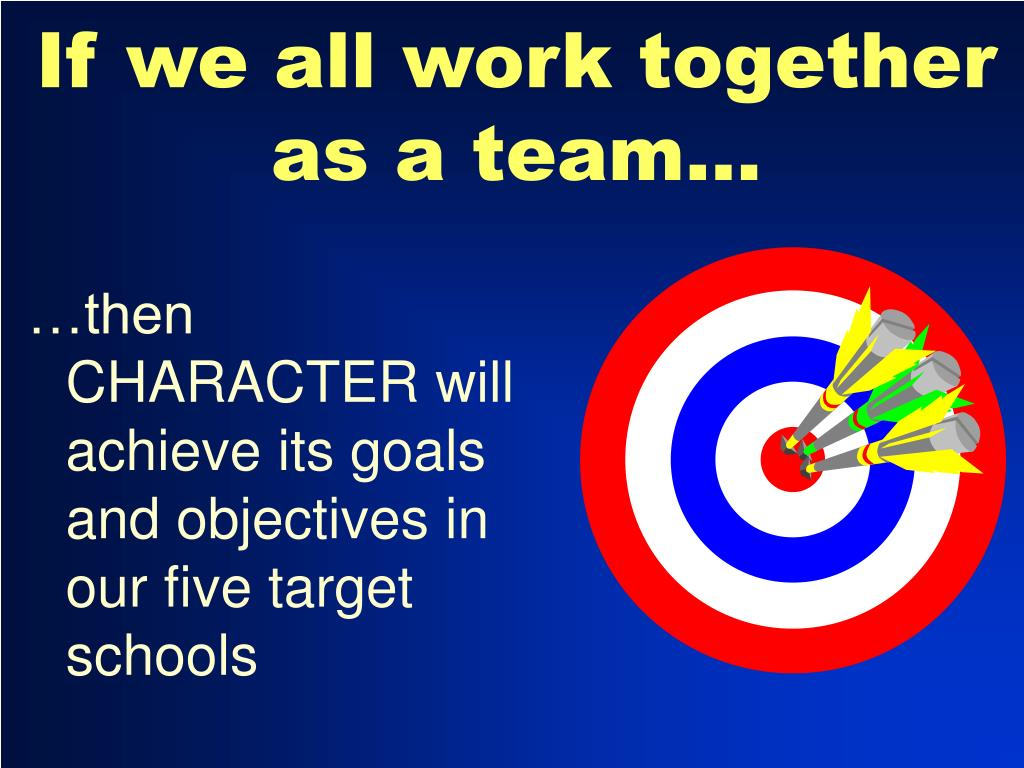 If we all work together