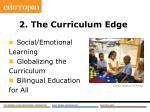 2 the curriculum edge