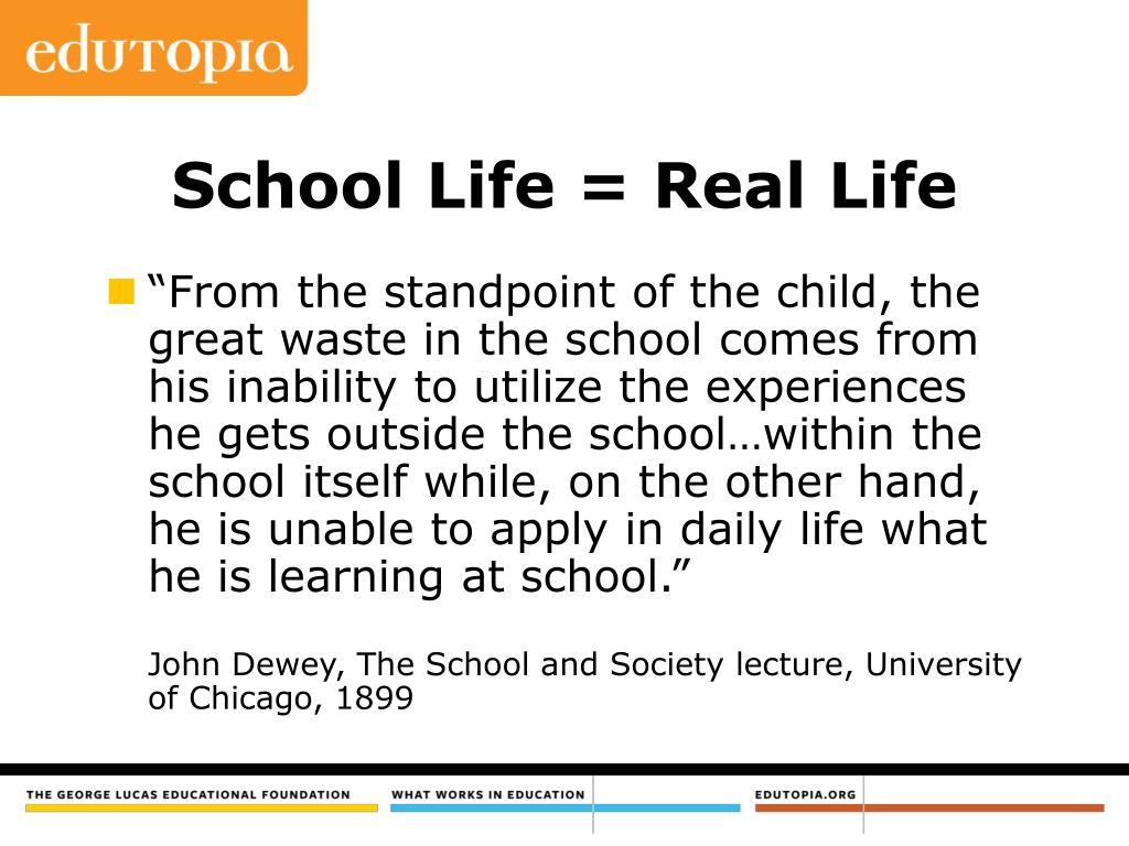 School Life = Real Life