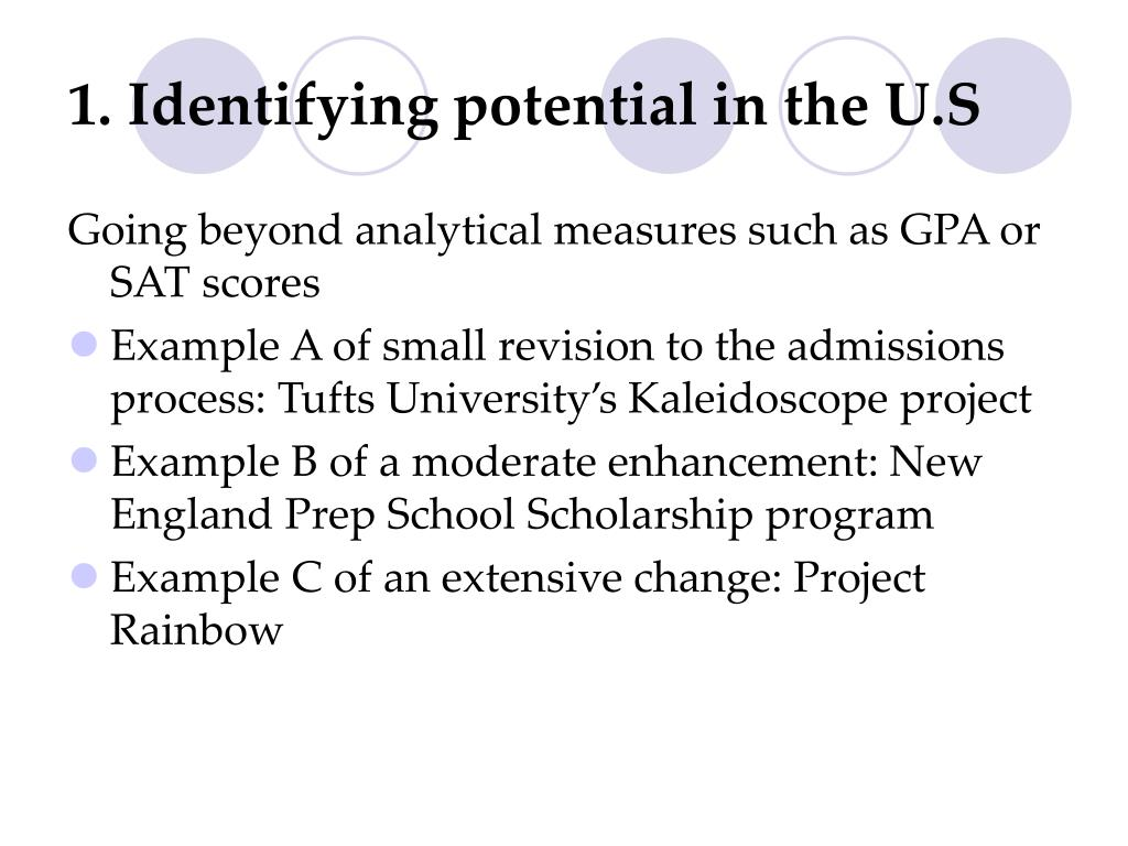 1. Identifying potential in the U.S