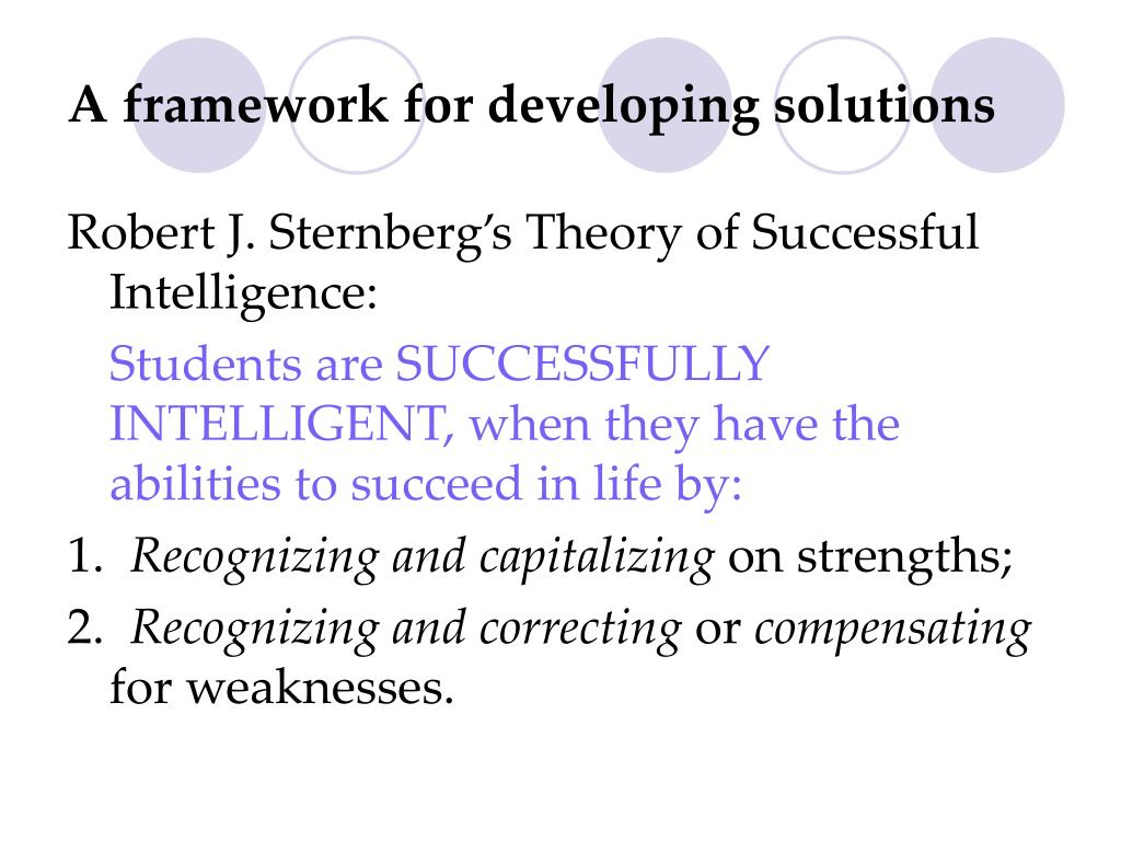 A framework for developing solutions