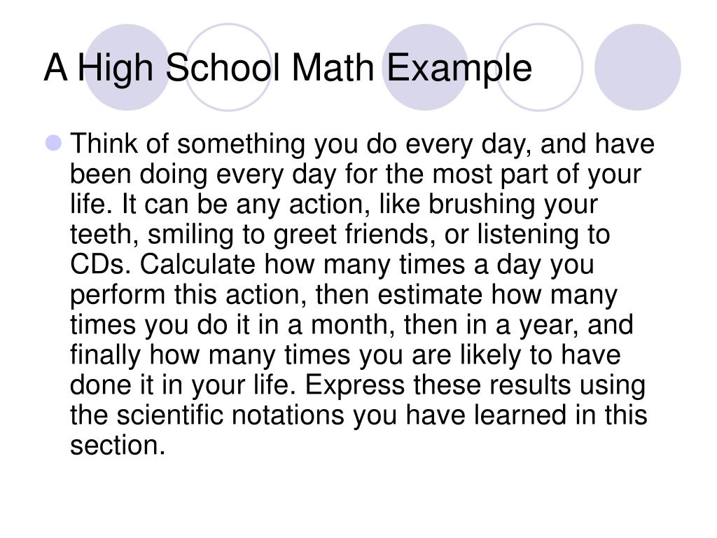 A High School Math Example