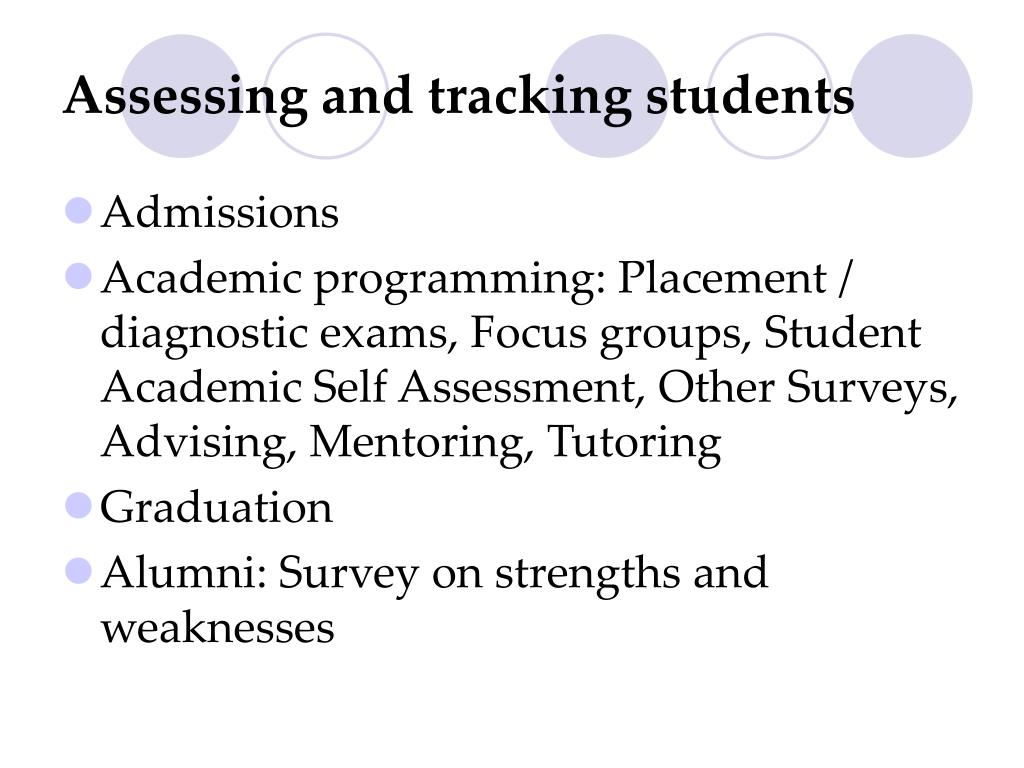 Assessing and tracking students