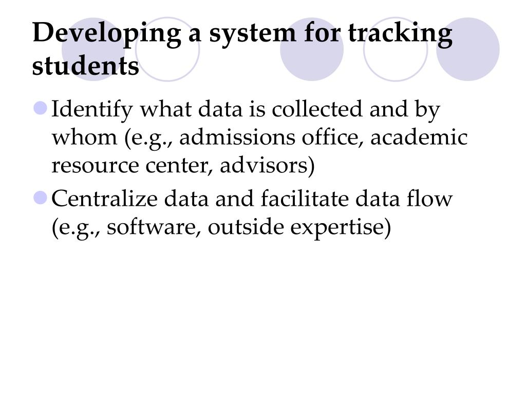 Developing a system for tracking students