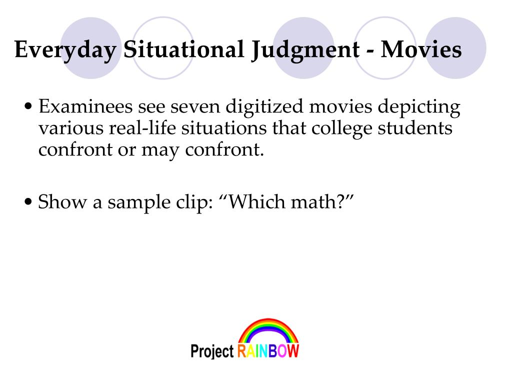 Everyday Situational Judgment - Movies