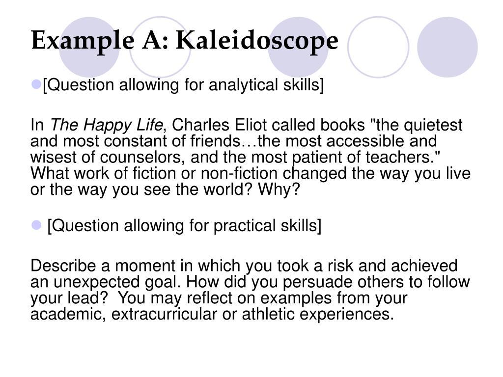 Example A: Kaleidoscope