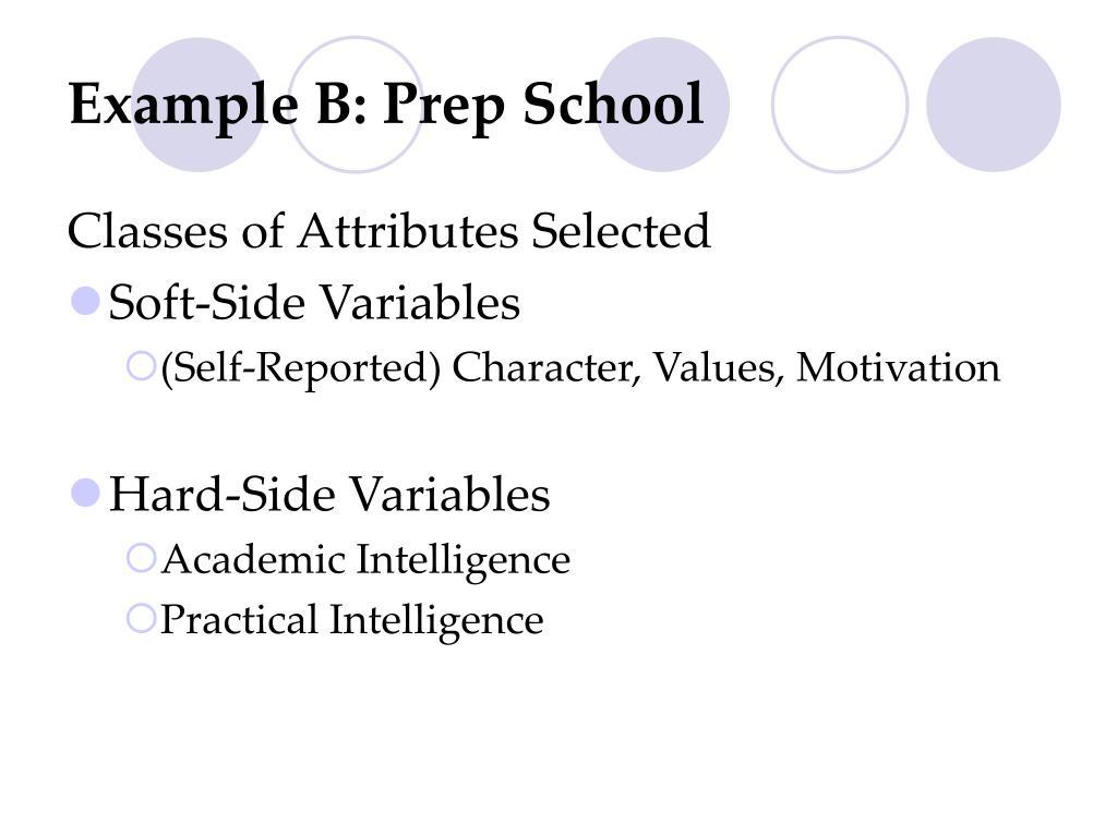Example B: Prep School