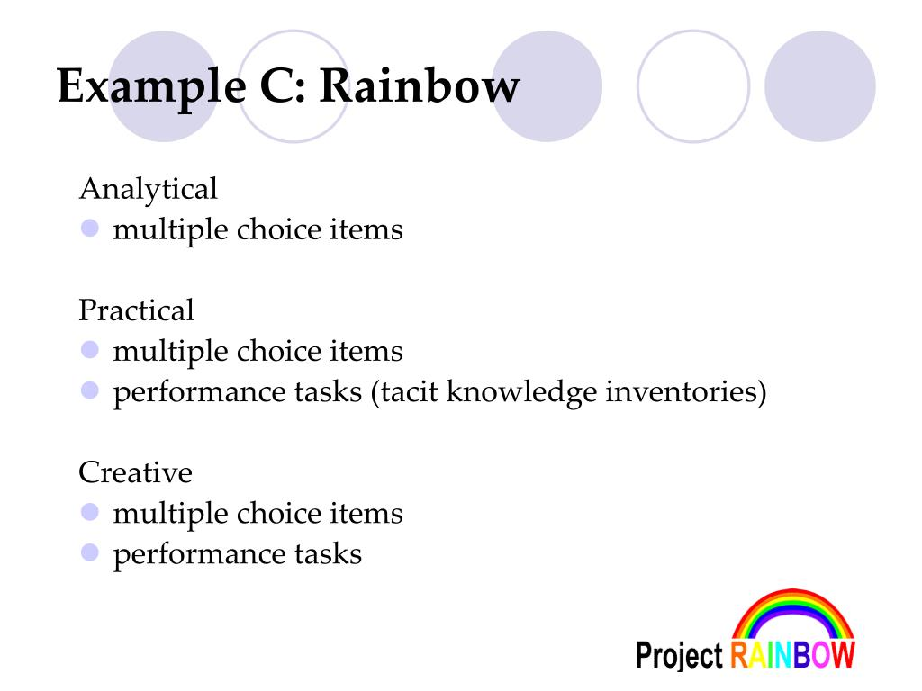 Example C: Rainbow