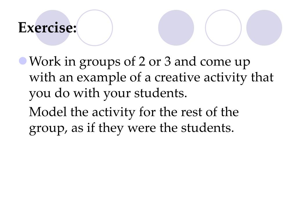 Exercise: