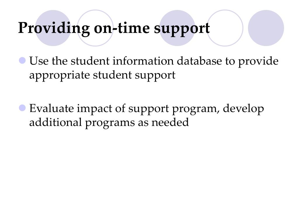 Providing on-time support