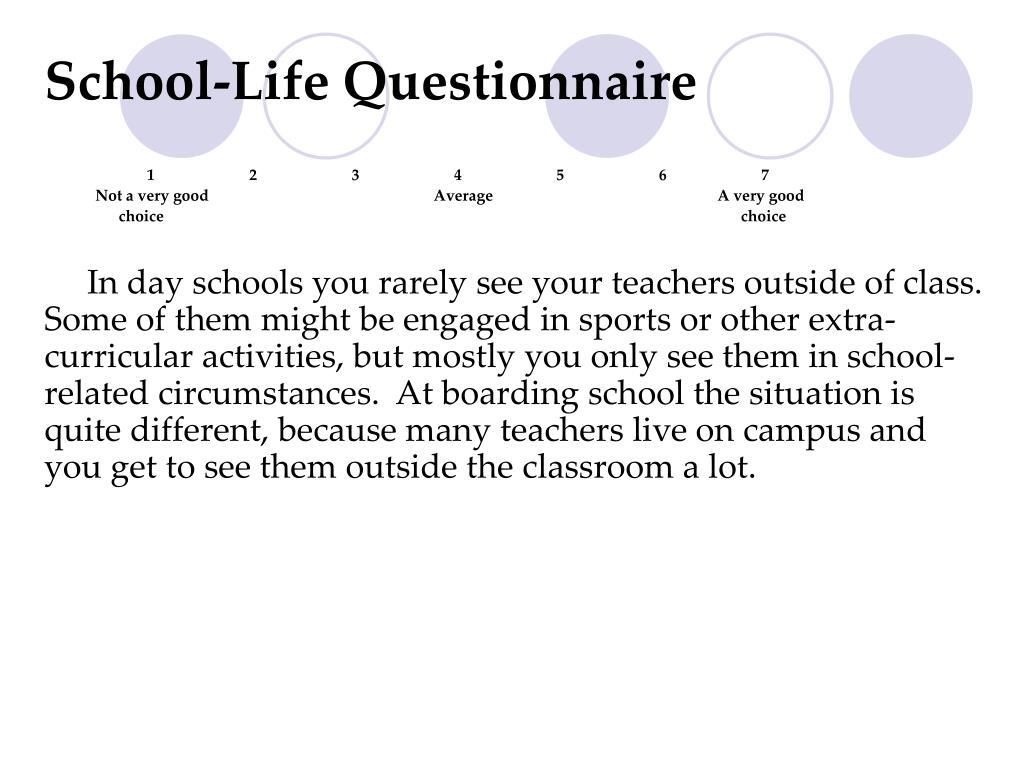 School-Life Questionnaire