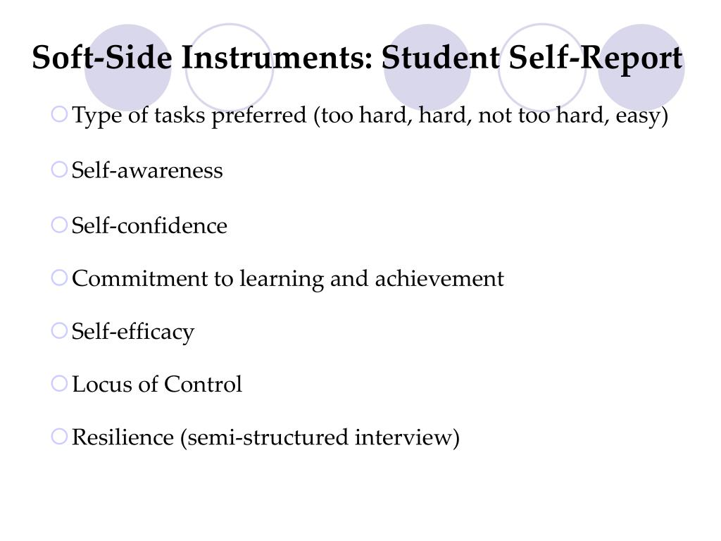 Soft-Side Instruments: Student Self-Report