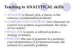 teaching to analytical skills