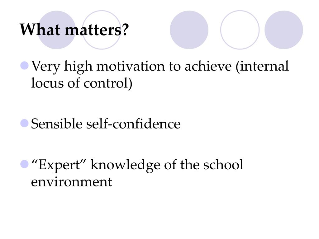 What matters?