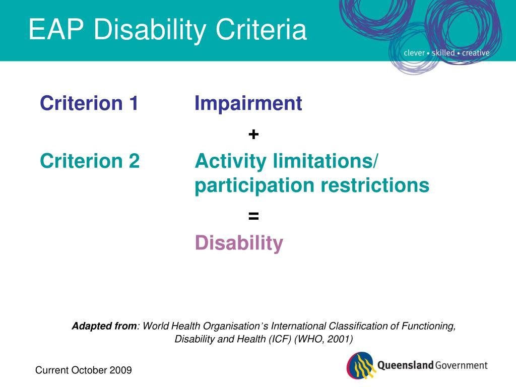 EAP Disability Criteria