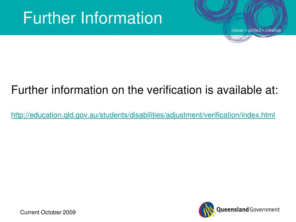 Further information on the verification is available at: