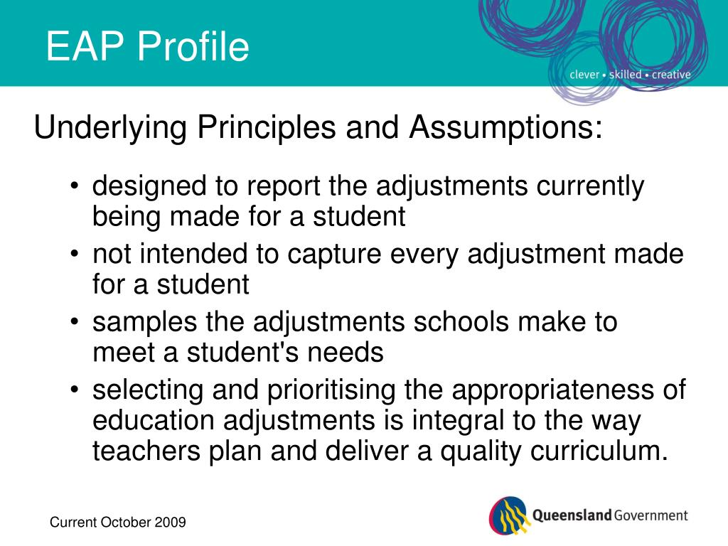Underlying Principles and Assumptions: