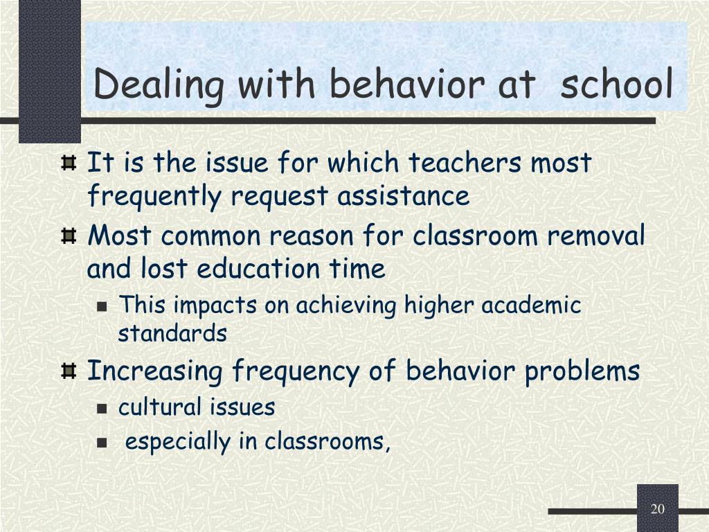 Dealing with behavior at  school