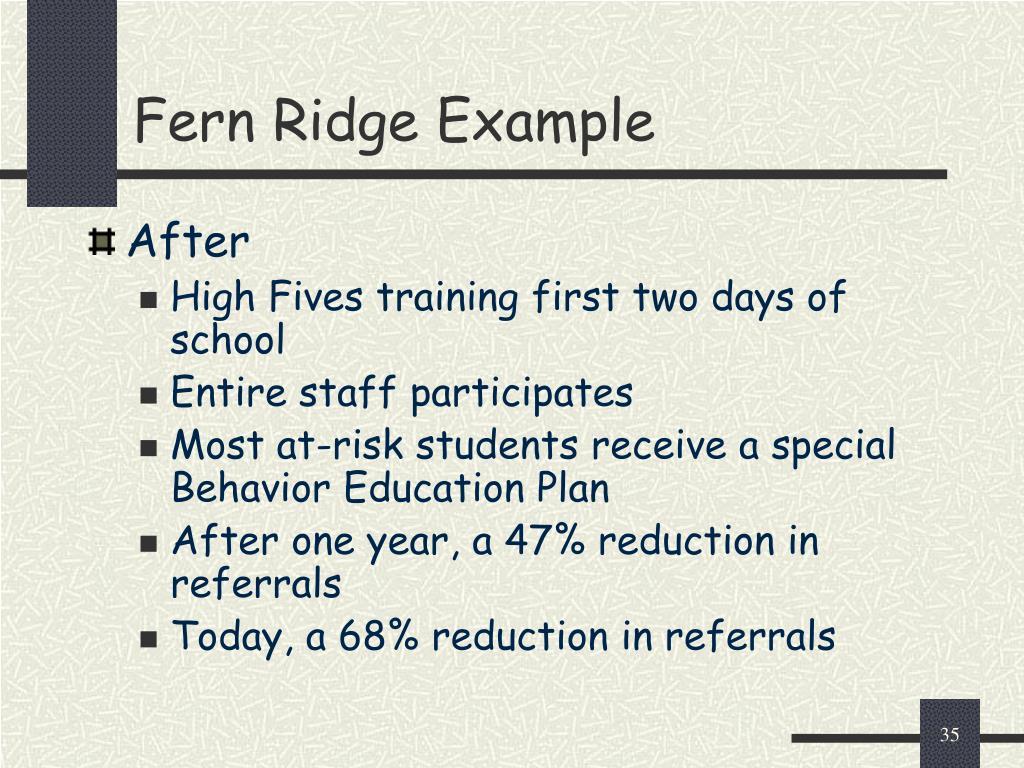 Fern Ridge Example