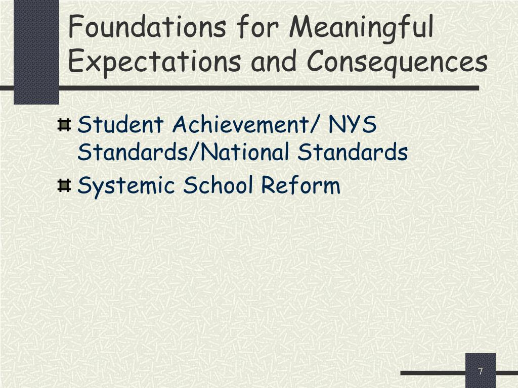 Student Achievement/ NYS Standards/National Standards