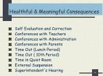 healthful meaningful consequences