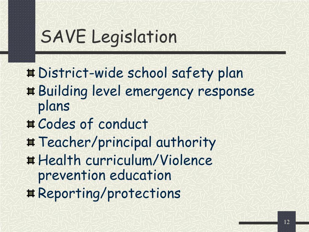 SAVE Legislation
