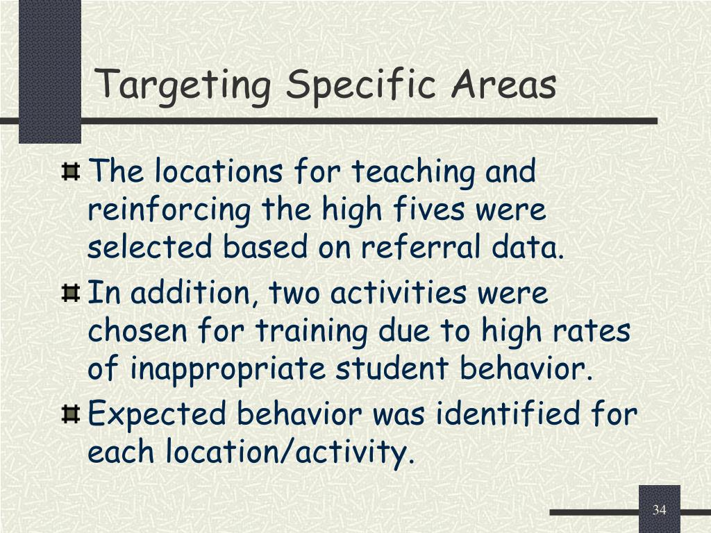 Targeting Specific Areas
