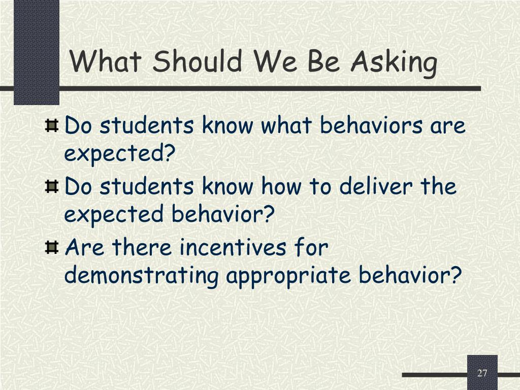 What Should We Be Asking