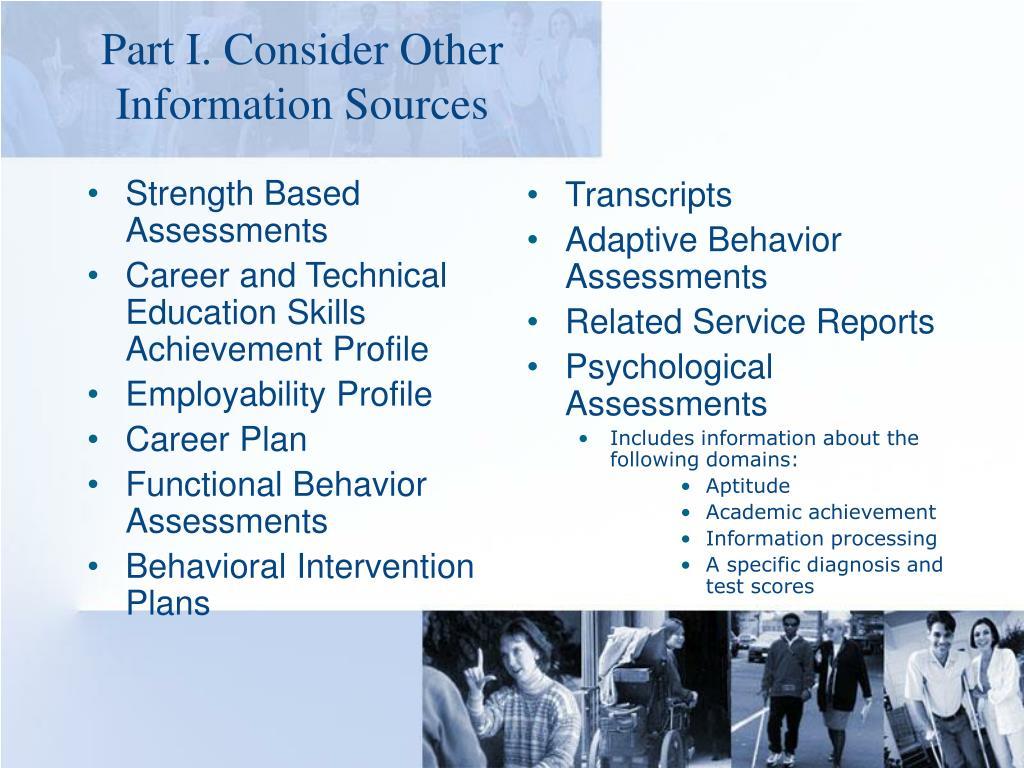 Strength Based Assessments