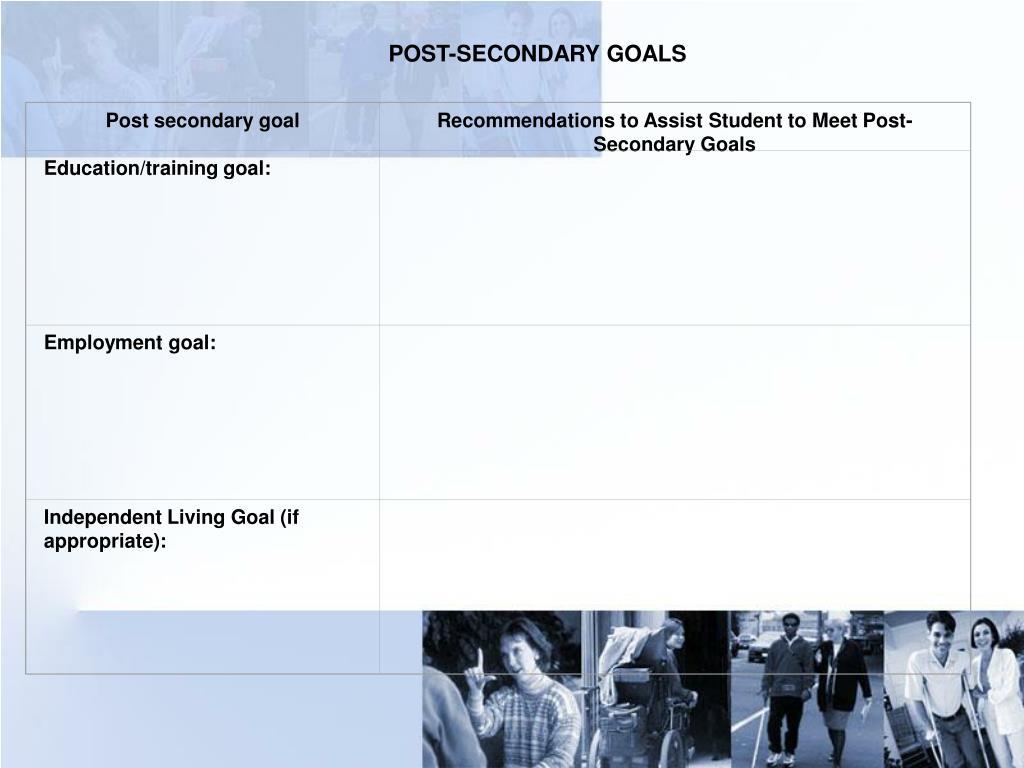 Post secondary goal