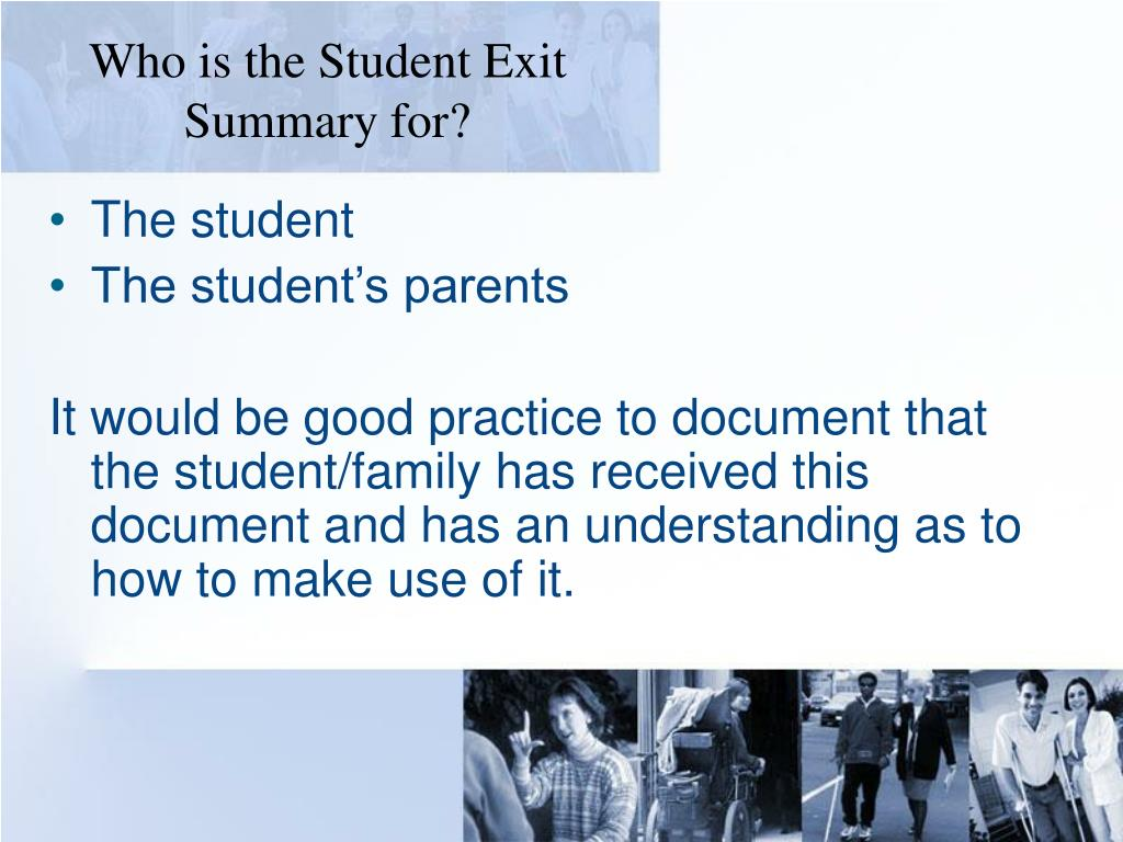 Who is the Student Exit