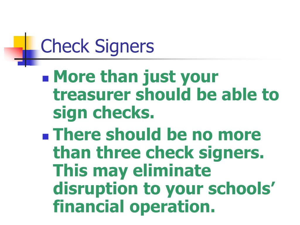 Check Signers