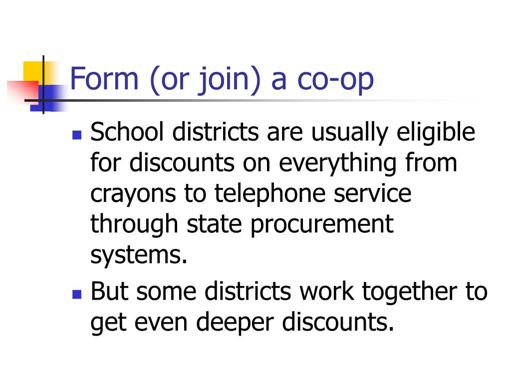 Form (or join) a co-op