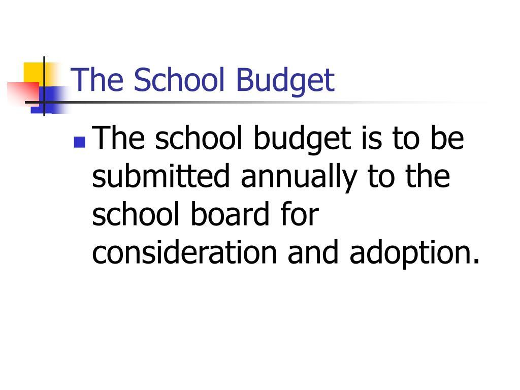 The School Budget
