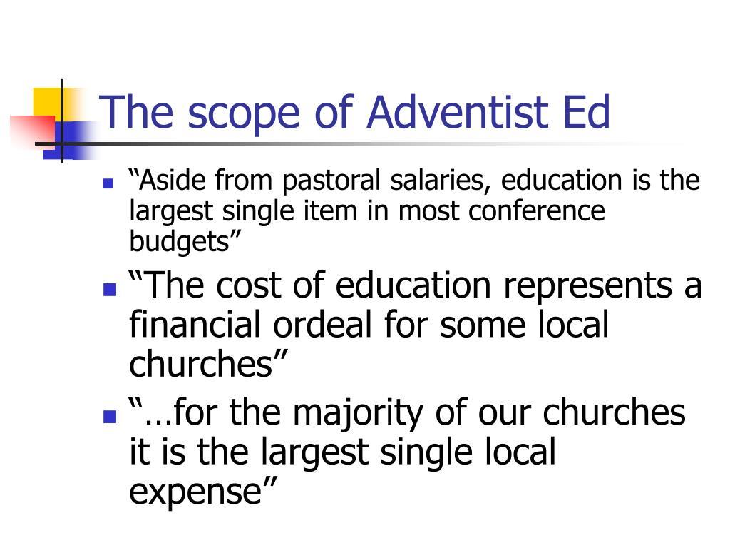 The scope of Adventist Ed