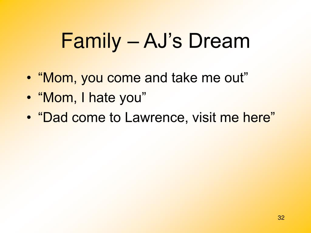 Family – AJ's Dream