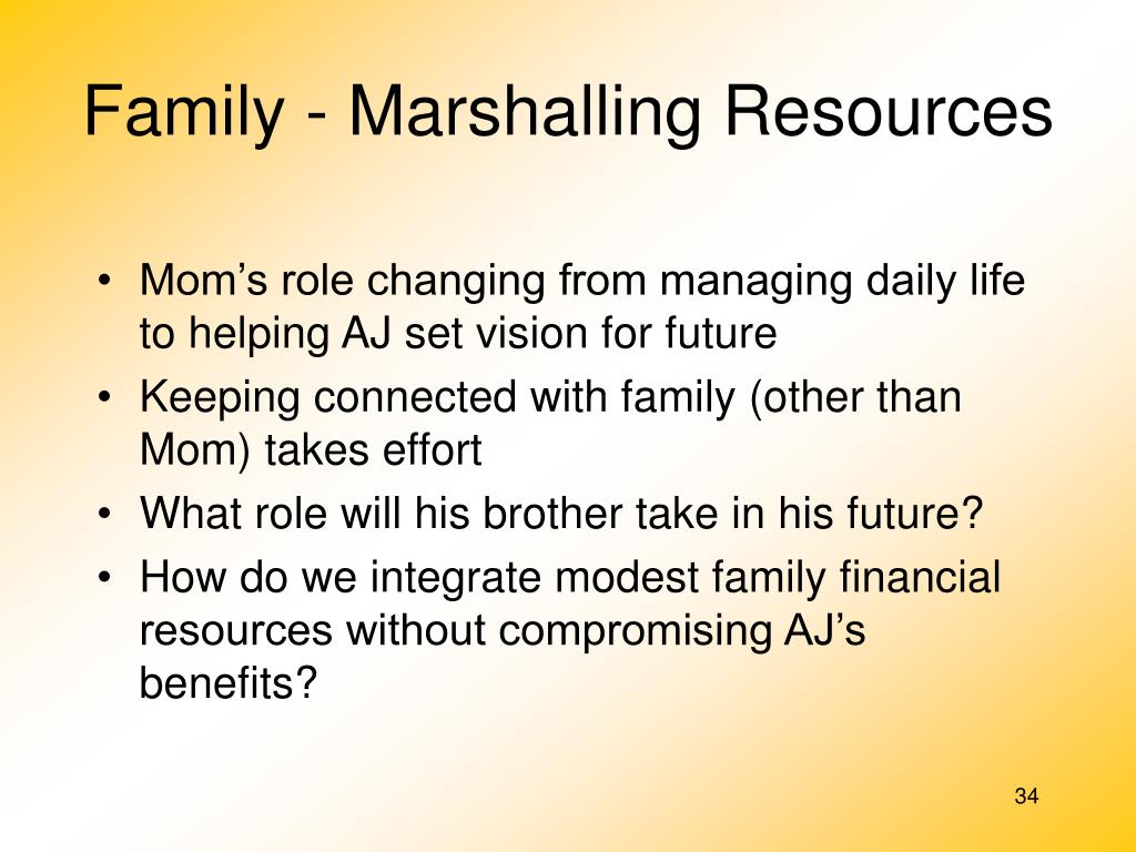 Family - Marshalling Resources