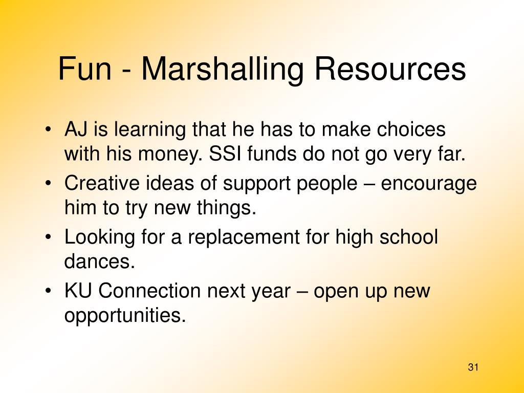 Fun - Marshalling Resources