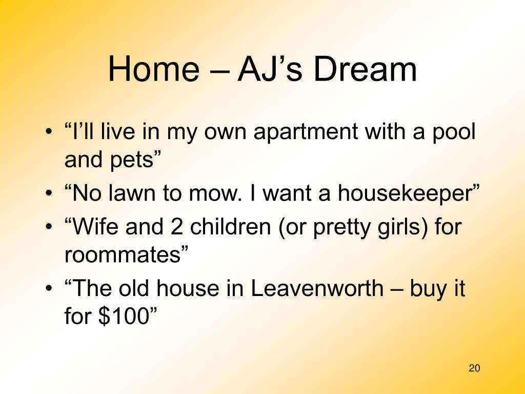 Home – AJ's Dream
