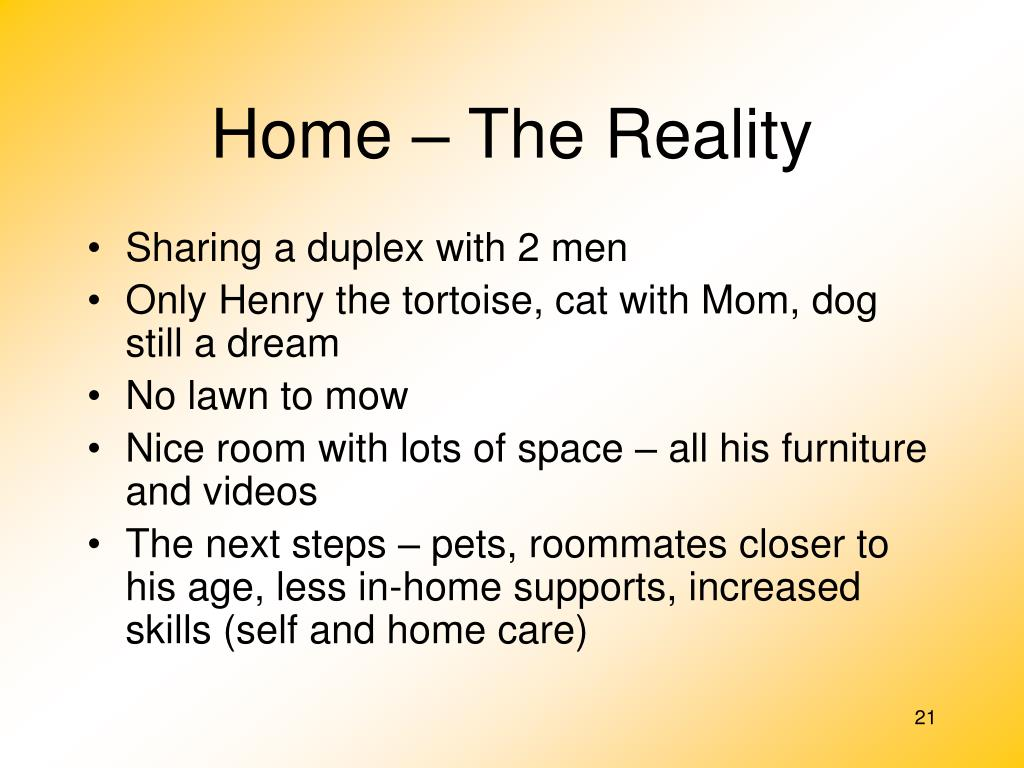 Home – The Reality