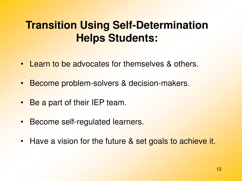 Transition Using Self-Determination