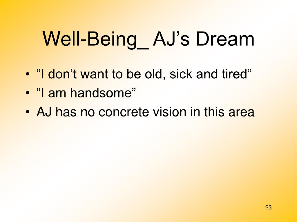 Well-Being_ AJ's Dream