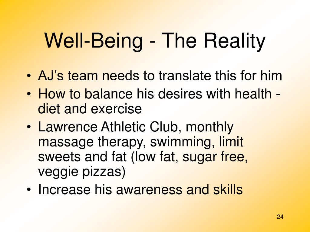 Well-Being - The Reality