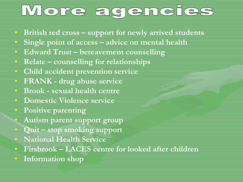 More agencies