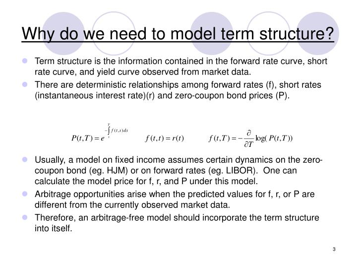 Why do we need to model term structure