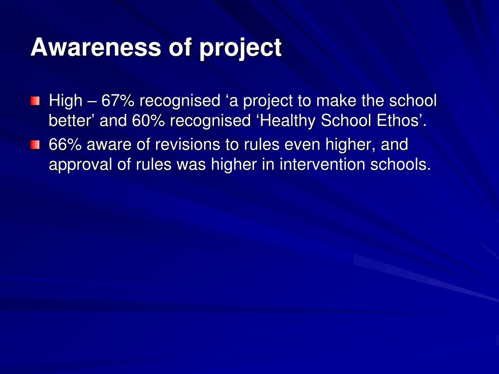 Awareness of project