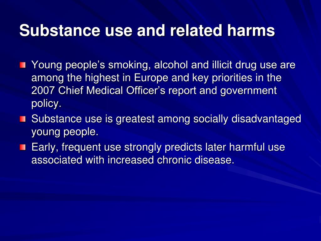 Substance use and related harms