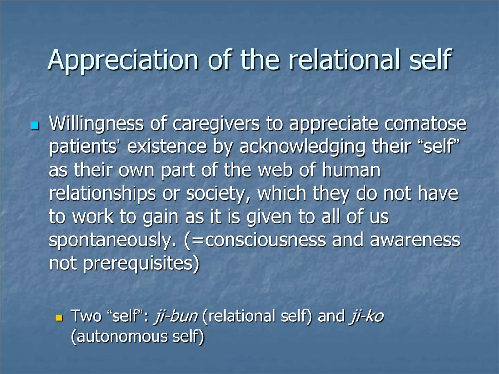 Appreciation of the relational self